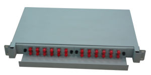 Fiber Optic Slidable Rack Mount Type Patch Panel 24 Cores pictures & photos
