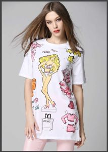 Wholesale100% Cotton Printing Fashion Round Neck T-Shirts for Women pictures & photos