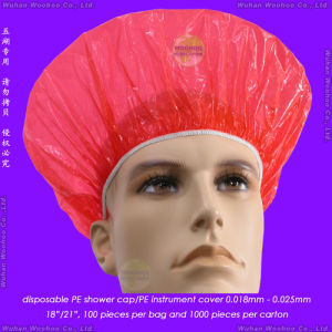 Disposable PE Bath Shower Cap pictures & photos