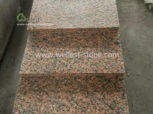 Maple Red Granite Flamed Paving Tile pictures & photos