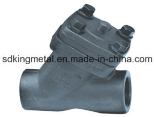 Y Type Forged Steel NPT Thread Check Valve pictures & photos