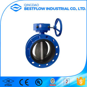 Dhdv-1 Ductile Iron Handle Manual Wafer Type Butterfly Valve pictures & photos