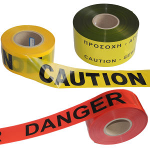 Color Printed Plastic PE Caution Tapes pictures & photos