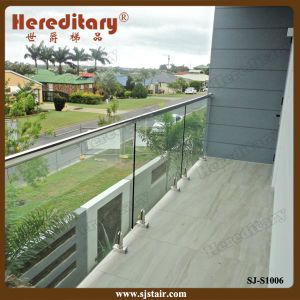 Stainless Steel Glass Spigot with Handrail for Balcony (SJ-S1006) pictures & photos