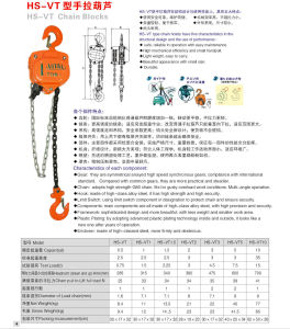 Hand Tools Chain Block Lifting Equipment Alloyed Steel Gear Vt Manual Chain Block pictures & photos