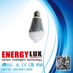Es-B04 E27 Aluminum Body 6W PIR Bulb pictures & photos