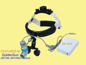 Surgical Operation Examination LED Headlight with Magnifier 2.5X pictures & photos