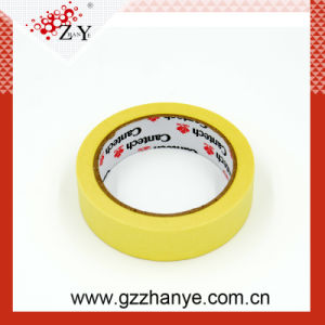 Yellow Crepe Paper Masking Tape for Auto Painting pictures & photos