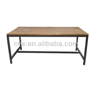 Dt-4021 Recyled Elm Furniture Stainless Steel Dining Table Base pictures & photos