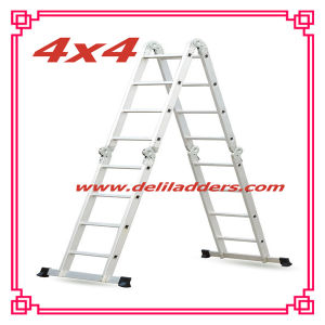 Domestic Aluminum Multi-Purpose Extension Ladder with Work Platform pictures & photos