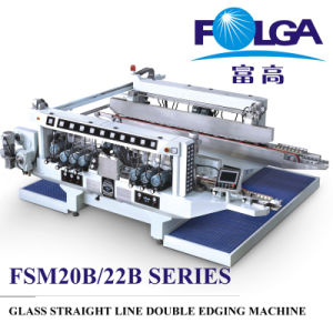 Glass Straight Line Double Edging Machine (FA-1020) pictures & photos