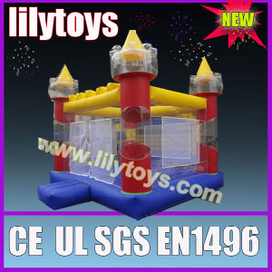Clear kids inflatable bouncy castle jumping toys pictures & photos