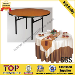 Round Dining Plywood Folding Banquet Table pictures & photos