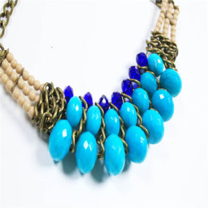 New Design Blue Tone Acrylic Beads Fashion Necklace Jewellery pictures & photos