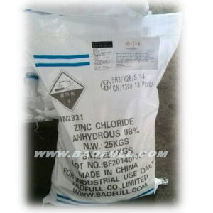 SGS Test 98% Indurstrial Zinc Chloride for Battery Material pictures & photos