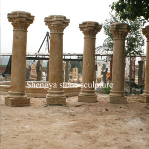 Sandstone Yellow Marble Stone Sculpture Column (SY-C007) pictures & photos