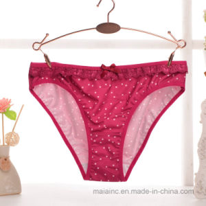 2017 New Ladies Pattered Cotton Panty pictures & photos