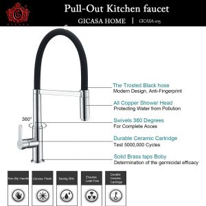Kitchen Faucet, Commercial Style Kitchen Sink Faucet with Hot and Cold Water, Chrome Finish pictures & photos