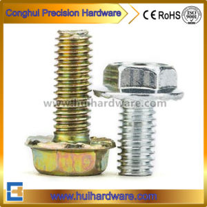 Phillips Flange Fastener Carbon Steel 4.8/8.8/10.9 Galvanized Hexagon Head Flange Screw pictures & photos