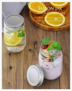 Food Grade 450ml Preseving Glass Jar with Metal Lid Mason Jar pictures & photos