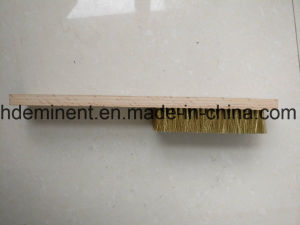 Brass Coated Steel Wire Brush with Wooden Handle pictures & photos