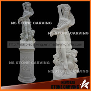 White Marble Natural Stone Statues Monument in Park pictures & photos
