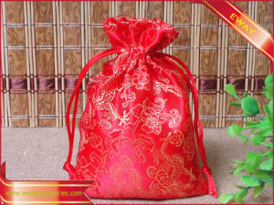 Red Satin Packing Bag Gift Promotion Jewelry Packing Bag pictures & photos