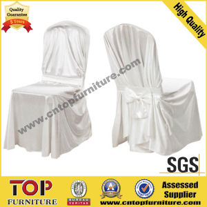White Plain Polyester Chair Cover pictures & photos