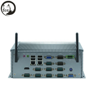 Embedded PC, Desk Fanless PC (IPC-NFD37) with Processor 1037u/1.80GHz, 2 LAN, 10* COM, Supports 4 RS485 pictures & photos