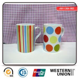 Rainbow Color Porcelain Coffee Mug (JSD1130A-002) pictures & photos