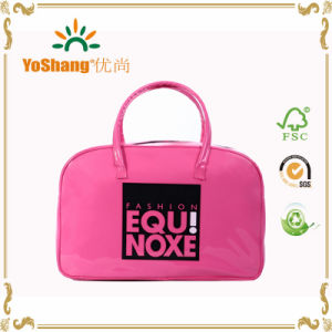 Girls Cutie Shiny Pink PVC Fashion Bowling Bag pictures & photos