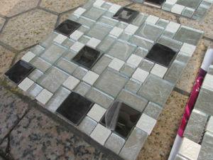 Glass Mix Metal Ceramic Mosaic Tile pictures & photos