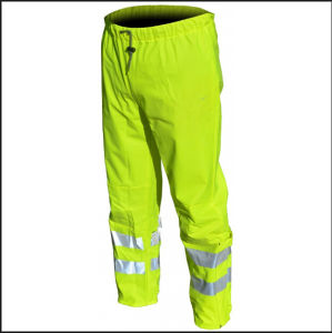 Yellow Light Hi-Vis Safety Cargo Building Reflective Evening Trousers Pants pictures & photos