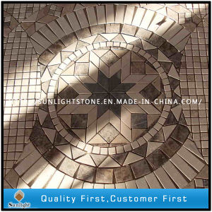 Natural Travertine Marble Mosaic Pattern for Home/Hotel Floor pictures & photos