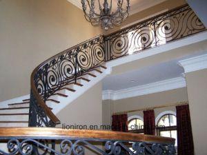 Iron Grill Design Interior Stairs Railing Design pictures & photos