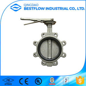 Double Flange Type Cast Steel Butterfly Valve pictures & photos