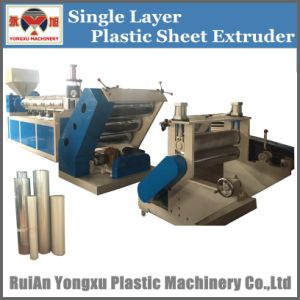 Single Screw Single Layer Plastic Sheet Extruder Machine pictures & photos