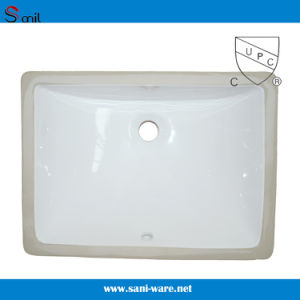 Hot Selling Cupc Bathroom Undermout Rectangular Ceramic Basins (SN018) pictures & photos