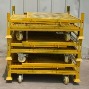 Warehouse Metal Folding Storage Collapsible Stacking Roll Wire Mesh Stillage pictures & photos