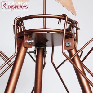 Attractive Design Golden Christmas Tree Beer Display Metal Wire Floor Wine Rack pictures & photos