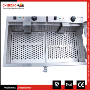 Electric Fryer Double Tanks Deep Fat Frying Machine Dzl-800 pictures & photos