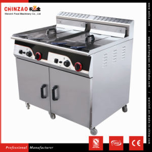 Commercial Countertop Gas Deep Fryer Frying Machine Gzl-92 pictures & photos