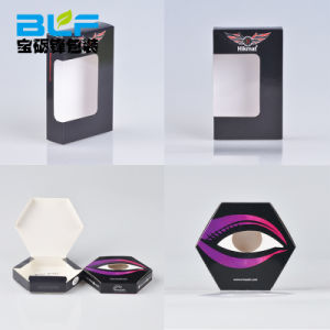 Custom Printed Color Eyelash Paper Box Withe PVC pictures & photos