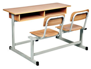 Classroom Furniture Design Double Desk and Chair (SF-03D) pictures & photos