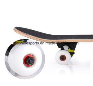 Professional Logo Printed Skateboard Scooter with Flashing PU Wheels pictures & photos