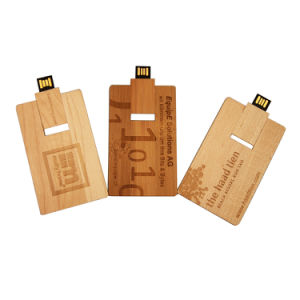 Free Logo Customized Wood Bamboo USB Flash Pen Drive 4GB 8GB 16g 32GB Wood Card Model USB Flash Drive (TF-0324) pictures & photos