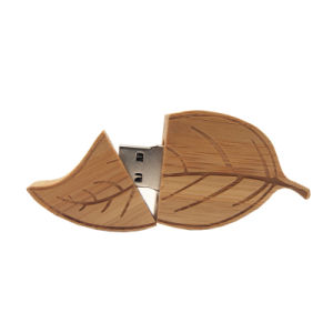 Wood Leaf Pen Drive 4G 8g 16g 32g USB Flash Drive Memory Stick Pendrives pictures & photos