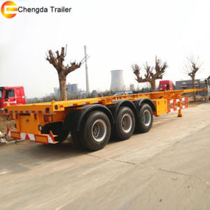 20ft and 40ft Skeleton Container Chassis Trailer pictures & photos