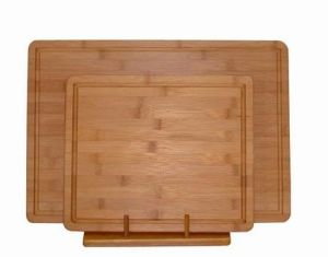 Bamboo Chopping Cutting Board with a Well Around Board (HGB-005) pictures & photos