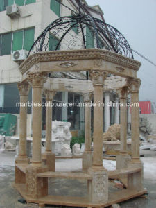 Egypt Cream Beige   Qu Yang Stone Sculpture Marble Gazebo (SY-G011) pictures & photos